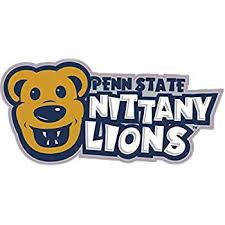 Amazon Com 9 Inch Penn State Text Logo Decal White Letters On Blue Nittany Lions Pennsylvania University Psu Removable Repositionable Peel Self Stick Wall Sticker Art Ncaa Home Room Decor 9 By 2