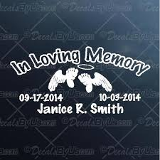 Save Big On In Loving Memory Infant Car Decals
