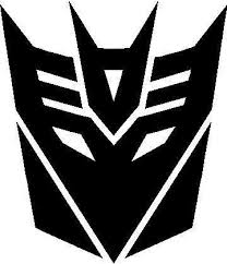 Transformers Decepticon 06 Decal Sticker Face Stencils Transformers Decepticon Logo