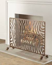 gold fireplace screen neiman marcus