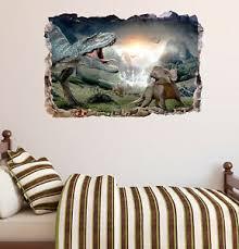 Walking With Dinosaurs Smashed 3d Wall Decal Mural Sticker Decor Art Vinyl Da155 Ebay
