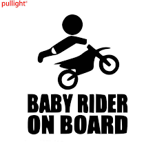 Baby Dirtbike Sticker Dirt Bike Motocross Stunts Motorcycle Paddles Car Stickers And Suvs Bumper Car Window Decals Car Styling Car Sticker Car Stylingcar Window Decals Aliexpress