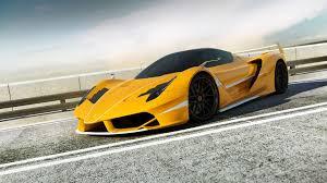 Ferrari Vehicles Cars Auto Exotic Supercar Roads Race Track Fence Yellow Wheels Wallpaper 1920x1080 26887 Wallpaperup