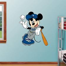 Mickey Mouse Dodgers Wall Decal Allposters Com