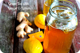 green tea with lemon and ginger for