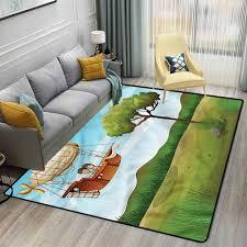 Amazon Com Explore Kids Room Home Decor Carpet Fantasy Explorer Boy Rugs For Bedroom Living Room Girls Kids W6 X L8 8 Feet Kitchen Dining
