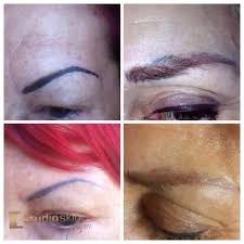 saline removal for permanent makeup