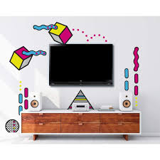 Picture Perfect Decals Removable Peel Stick Wallpaper Sticker Graphic 80s 90s Design