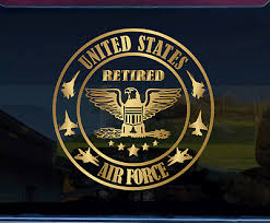 Us Air Force Retired Colonel Custom Made Window Decal Sticker Ebay