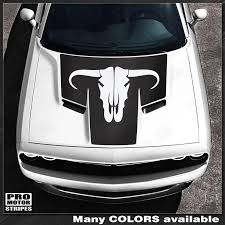 Dodge Challenger 2008 2019 Toro Bull Skull Hood Stripe Decal 152588451 Pro Motor Stripes