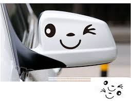 3 Colors Smile Smily Face Car Decal Sticker Smily Rearview Mirror Car Accessories Reflective 1pair Funny Car Decals Mirror Car Accessories Car Stickers Funny