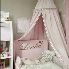 Baby Room Decoration Tent Balls Mosquito Netting Kids Bed Curtain Canopy Round Ebay