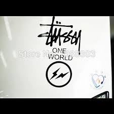 Car Sticker Decals Reflective Waterproof Racing Sticker For Stussy One World X Fragment Racing Stickers Car Stickers Decalscar Decal Sticker Aliexpress