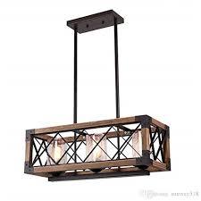 industrial wind loft wood chandelier