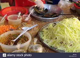 bbq king crab spicy salad ingradients Stock Photo - Alamy