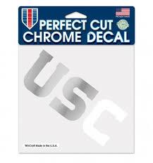 Usc Trojans Chrome Prefect Cut Decal 6 X 6 The 4th Quarter