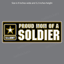 Proud Mom Of An Army Soldier Car Truck Bumper Sticker Window Decal