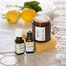 lemon and peppermint essential oils