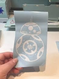 Bb8 Decal Disney Car Decal Star Wars Wall Decal Mirror Etsy
