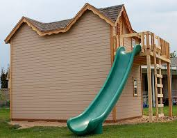 plans playhouse with slide plans diy