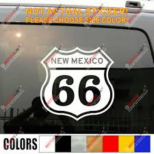 Route 66 Us New Mexico Vintage Car Decal Sticker Ebay