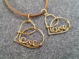 love heart pendant diy wire jewelry