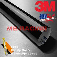 Genuine 3m Gloss Black Vinyl Wrap Car Sticker Film Decal Bubble Free Ebay