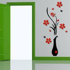 Free Shipping 3d Plum Vase Wall Stickers Home Decor Creative Wall Decals Ng4s Creative Home Decor Olivia Decor Decor For Your Home And Office