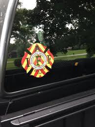 Iaff Firefighter Union Chevron Reflective 3m Sticker Decal 4 Iaff Decal Firefighter Automotive Logo