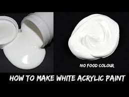 homemade white acrylic paint ll how to