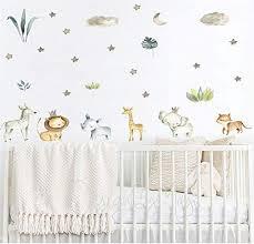 Amazon Com Safari Animals Forest Animals Decals Jungle Friends Wall Decals Baby Room Decals Nursery Art Decor Baby Animals Fox Bear Raccoon Handmade