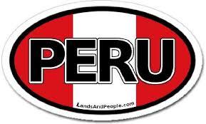 Amazon Com Peru And Peruvian Flag Car Bumper Sticker Decal Oval Arts Crafts Sewing