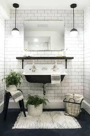 black and white bathroom mats