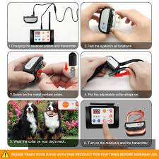 Ocaca 2019 Updated Remote Dog Training Collars With Wireless Dog Fence 2 In 1 System Outdoor Adjustable Sound Vibration Shock Function Waterproof Rechargeable Harmless For All Dogs 1 Collar Radio Wireless Fences