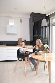 Black Wooden Baby High Chair Pid Feed Kids Highchair Feeding Etsy Dining Room Furniture Dining Room Chairs Wooden Baby High Chair