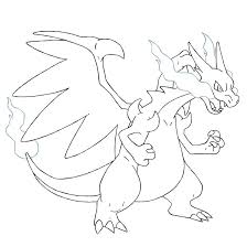 Pokemon Mega Charizard X Coloring Pages
