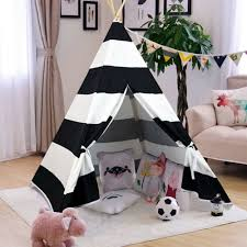 Shop Teepee Tent For Kids With Carry Case Cavas Toys For Girls Boys Girls Overstock 30262786