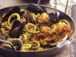 Seafood Paella with Extra Virgin Olive Oil
