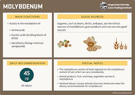molybdenum linus pauling insute