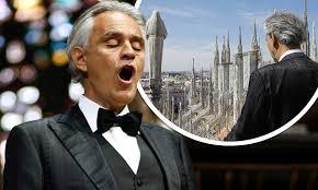 Andrea Bocelli streams stunning Music ...