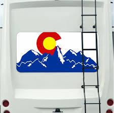 Colorado Mountain Mural Tint Decal Sticker Custom Tire Covers