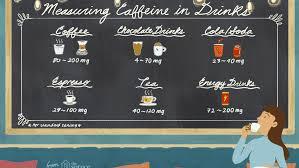 how much caffeine is in coffee tea