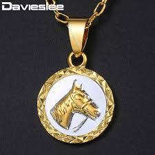 davieslee womens horse head pendant