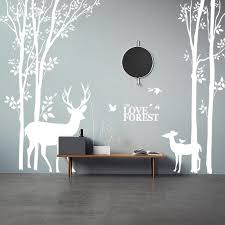 Birch Tree With Deer Wall Decals The Treasure Thrift