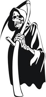Custom Large Grim Reaper Car Truck Window Decal Grim Reaper Skull Decal Skull Stencil