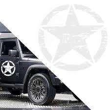 Xotic Tech White Military Series Army Star Sticker Vinyl Graphic Decal For Jeep Car Hood Body Trunk Side Fender Door Bumper Decoration Walmart Com Walmart Com