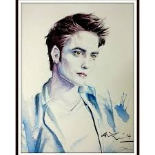 Water color on paper Robert Pattinson as Edward Cullen by Avik Das | Robert  pattinson, Edward cullen, Male sketch