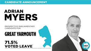 """The Brexit Party on Twitter: """"CANDIDATE ANNOUNCEMENT: Congratulations, Adrian  Myers! Our Prospective Parliamentary Candidate for #GreatYarmouth.…  https://t.co/OMscSgzito"""""""