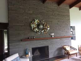 fireplace mantel asymmetrical mid century