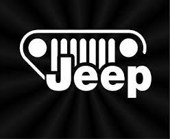 Minimal Jeep Grill Vinyl Decal Oracal Logo Symbol Car Vinyl Window Decal Sticker